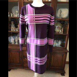Eva Mendes Geometric Print Dress